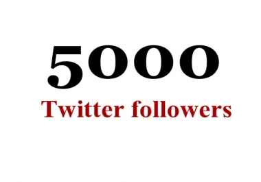give you 5000 permanent Twitter followers
