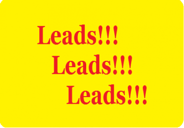 deliver 100 CUSTOMIZED LEADS