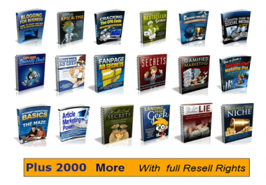 give you over 2000 ebooks with Full Resell Rights