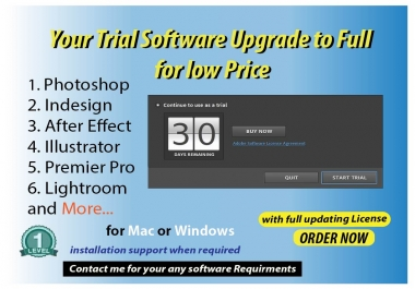 update your Trial software to full