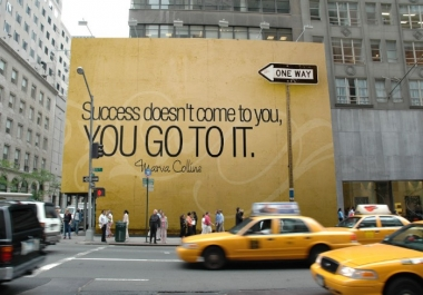 make 3 billboard advertisement of your logo,image or text