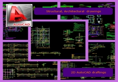 make 2D Autocad Drawings