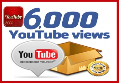 Give 6000 SAFE Youtube Views with 1 Month Non Dropped Guarantee