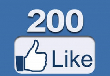 give you 200+ Real facebook fan page like Within 2 Hours