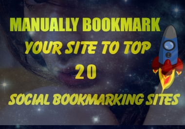 submit your website MANUALLY to the top social bookmarking sites and ping
