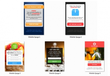 give Trendy Mobile Squeeze Pages with Html Psd Files