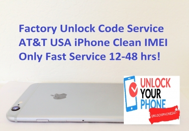 factory unlock code service AT&T USA iPhone clean IMEI only