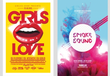 design an amazing flyer or poster for your event