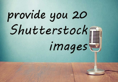 give you 20 royalty free shutterstock images for just