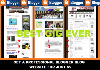 setup new customized and professional blogger blog website