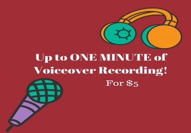 record a (up to ONE MINUTE) voiceover