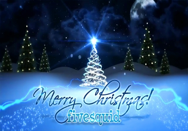 create this Christmas Newyear Holiday greeting video