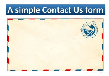 Do A simple Contact Us form for WordPress