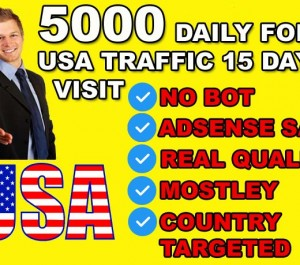 generate Unlimited Traffic For Your Website Or Blog From USA Only