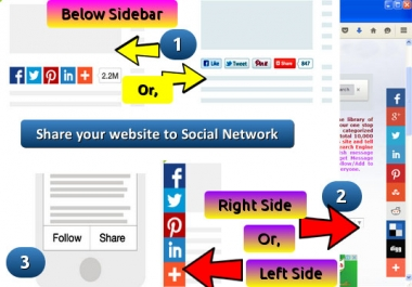 add Share tools to share content to Facebook, Google Plus, Twitter, LinkedIn, Pinterest, Reddit etc