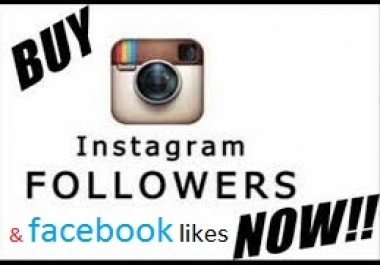 provide 500+ Facebook Likes or 2000 Instagram likes/followers To make you famous on social media