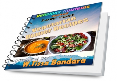 provide delicious, Nutrients and low cost E-Book with 40 Dinner  Recipes