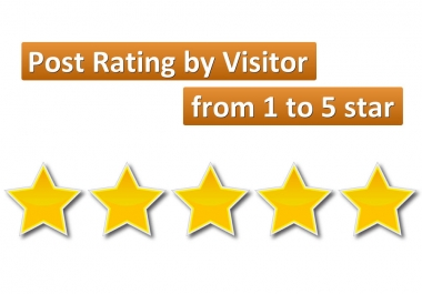 add the option of WordPress Post Rating by Visitor from 1 to 5 star
