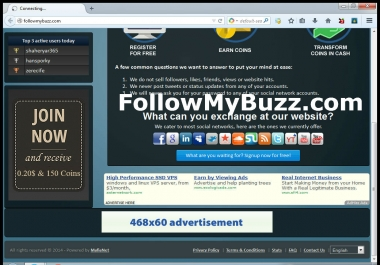 Advertise 468x60 Banner for 20 Days on Social Exchange/Traffic Website