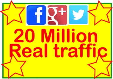 Promote your webisite / URL 20 Million Real People on Facebook,Twitter,Google Plus