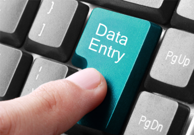 do data entry at any time