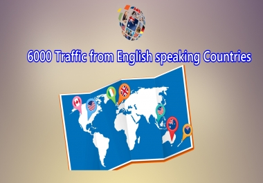 send 6000 visitors from English speaking countries
