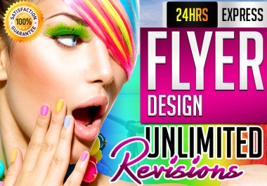 do VARIOUS kind of flyers with in 24hrs