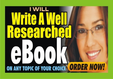 Write Unique eBook On Any Topic Of Your Choice
