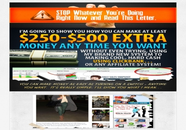 Show How you can make at least $250-$500 extra money any time