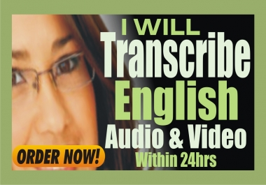 Transcribe 12 Minutes of English Audio or Video