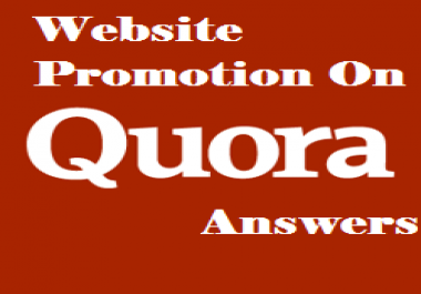 promote your website on Quora Answers with live URL