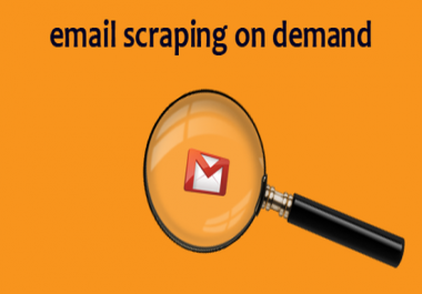 collect email addresses on demand ... name based list, keyword based list, Gmail list, etc ... ... whatever you want ...