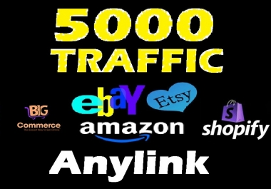 drive 5000 human  TRAFFIC to amazon ebay etsy shopify alibaba Magneto Bigcommerce