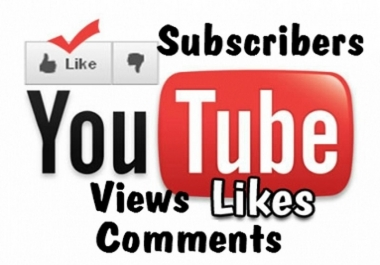 give REAL 1000 YouTube views + 200 Likes + 10 Subscribers + 5 Comments to your New video