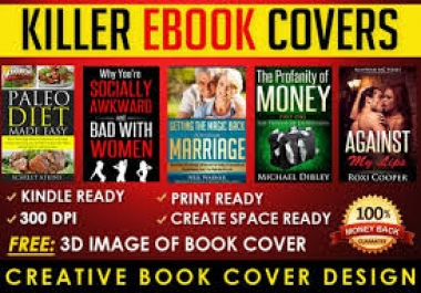 design an outstanding and quality ebookcover for you in just 24 hours