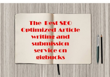 manually write a 500 worded genuine,copyscape passed article and manually submit to 30 high PR article directory sites