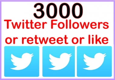 add 3000+ PERMANENT twitter followers mixed