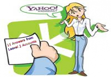 provide Your 15 links from My Level 2 Yahoo answers Accounts