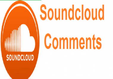 give you Real and permanent 50+ high quality soundcloud comments