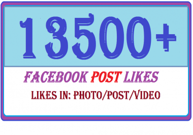 ADD 1500 Real USA Facebook Post likes in photo post or videos