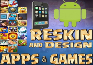 create and reskin ios and android games and apps