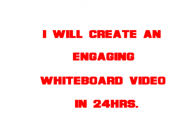 create this Explainer whiteboard video for your Business/service in 24Hrs