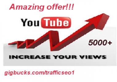 Add 5000 YouTube Views Non Drops high retention only