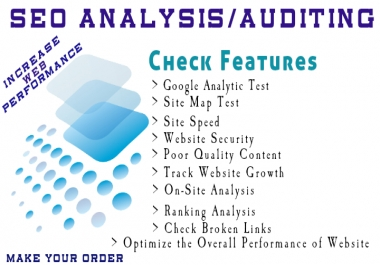 Audit your Website and give a full SEO Optimization Report