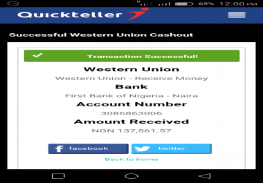 give you a a tutorial and link to website to earn$100 in a minute with western union