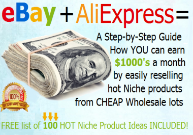 teach you step by step how to find profitable Niche Wholesale to resell on eBay