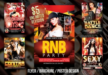 create flyers,brochure,Poster for you 24 Hours