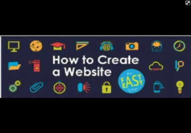 give you 3 quick and easy step to create a website