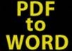 convert your PDF to Word or text