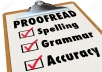 Do proofreading and copy editing